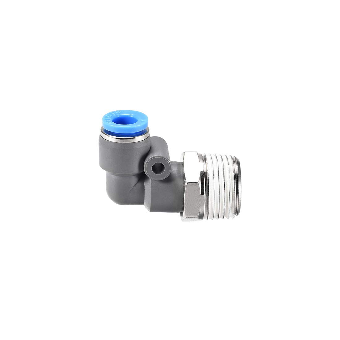 uxcell Elbow Push to Connect Air Fittings 6mm Tube OD X 3//8PT Male Thread Pneumatic Quick Release Connectors Grey