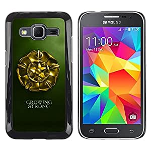LECELL -- Funda protectora / Cubierta / Piel For Samsung Galaxy Core Prime SM-G360 -- Growing Strong --
