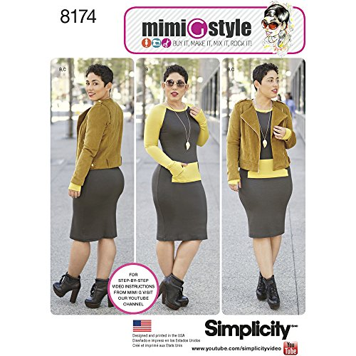 - Simplicity 8174 Misses' Lined Jacket and Knit Dress from Mimi G Style, H5 (6-8-10-12-14)