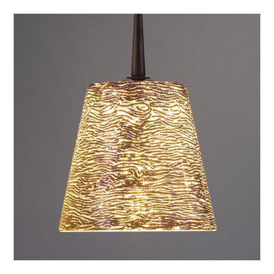 - Bling I 1 Light G9 Monopoint Line Voltage Pendant Finish: Bronze, Shade Color: Silver