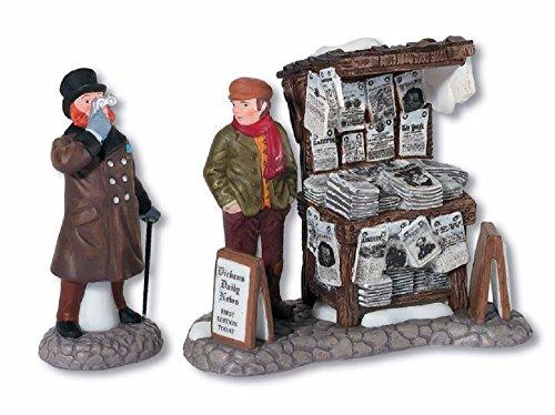 Dickens Village Series Set - Department 56 Dickens' Village London Newspaper Stand Accessory Figurine (Set of 2)