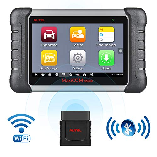 Autel Scanner MaxiCOM MK808BT Diagnostic Tool, Upgraded Version of MK808, with MaxiVCI Supports Full System Scan & IMMO/EPB/SAS/BMS/TPMS/DPF, Bi-Directional Control, ABS Auto Bleed ()