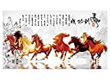 Gentle Meow Home Creative 50-Inch TV Cloth Decorative Dustproof Cover, Horses