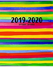 2019-2020 September to September: Diary | Week to View A4 Colourful Watercolours | UK Holidays (Colourful Rocket Studio Planners UK)