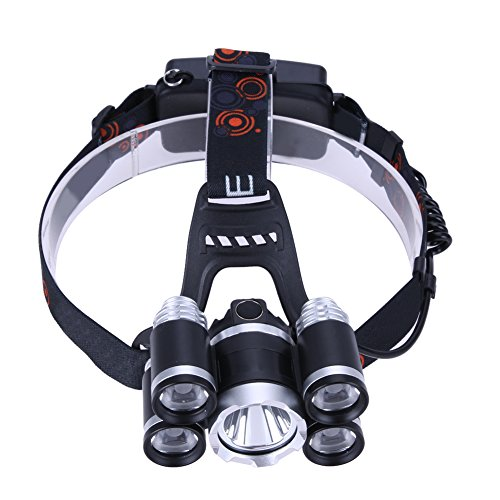 Xligo Portable Aluminum Alloy XML-16 4 X XPE 5 LED Headlamp Flashlight Emergency Outdoor Hunting Climbing Headlight Head Light