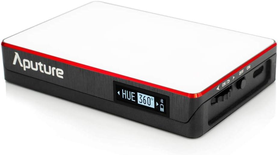Aputure MC RGBWW Filmato Luce con Full HSI Color Control e una gamma CCT di 3200K-6500K mini luce MC LED per riprese video Caratteristiche USB-C PD e Qi Wireless Charging