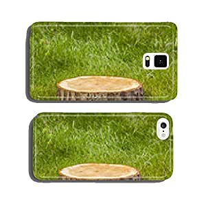 Tree stump on grass cell phone cover case Samsung S5