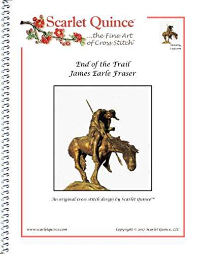 Scarlet Quince FRA003lg End of the Trail by James Earle Fraser Counted Cross Stitch Chart, Large Size Symbols from Scarlet Quince