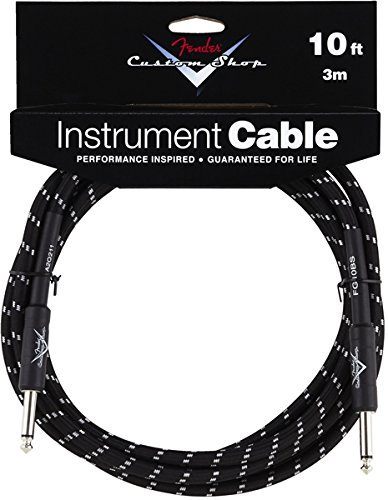 Fender Custom Shop Performance Series Cable (Straight-Straight Angle) for electric guitar, bass guitar, electric mandolin, pro - Tweed Shops