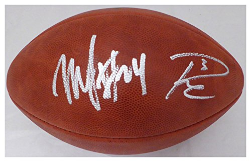 Russell Wilson & Marshawn Lynch Signed Autograph NFL Leather Football Seattle Seahawks RW & ML Holo Stock #130463 - Certified Authentic ()