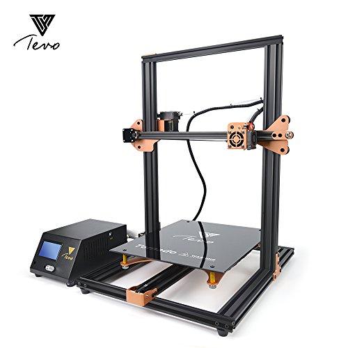 TEVO Tornado 3D Printer, DIY 3D Printing Most Assembled Full-Aluminum Frame for Home & School Use 300x300x400mm