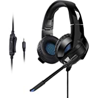Cehensy US90 Gaming Headset Over Ear Headphone Stereo Surround Earpiece Noise Isolation Earphones with Mic for PS4