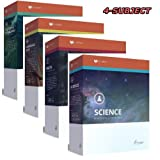 New Lifepac Grade 6 AOP 4-Subject Box Set (Math, Language, Science & History / Geography, Alpha Omega, 6th GRADE, HomeSchooling CURRICULUM, New Life Pac [Paperback]