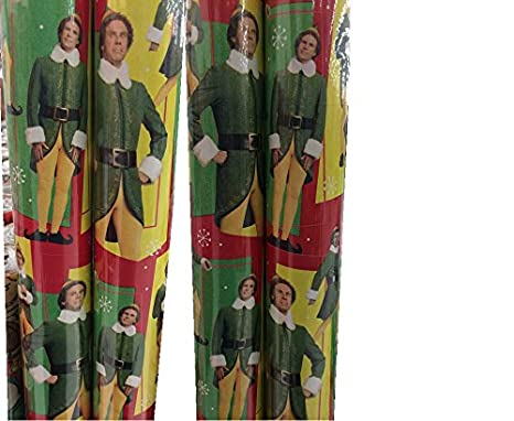New American Greetings ELF Movie Will Ferrell XMas Wrapping Paper 40 Sq ft.