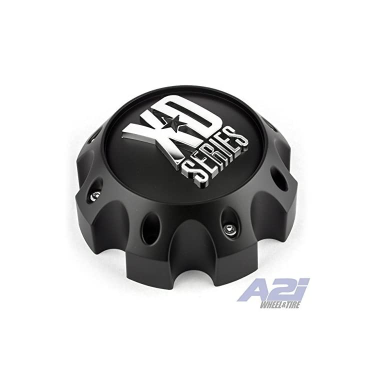 XD Series by KMC Wheels KMC XD Series 441 796 797 798 800 801 8 Lug Matte Flat Black Center Cap 1079L170-MB-8LUG
