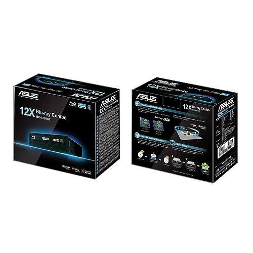 Asus Black 12X BD-ROM 16X DVD-ROM 48X CD-ROM SATA Internal Blu-Ray Drive (BC-12B1ST)