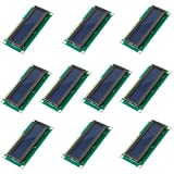 Optimus Electric 10pcs 1602 LCD 16x2 Character Display Module Blue Backlight 5V from