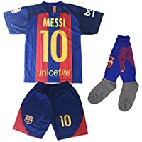 Hussain Tees Youth FC Barcelona Messi 10 Jersey/Shorts...