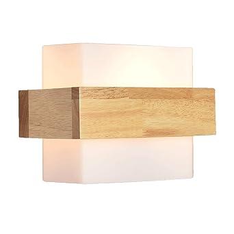 BD Moderne Verre simple Applique murale en bois Lampes à la chambre ...