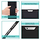 MoKo Case Fit Microsoft Surface Pro 7 / Pro 6 / Pro 5 / Pro 2017 / Pro 4 / Pro LTE, All-in-One Protective Rugged Cover Case w/Pen Holder and Hand Strap, Compatible with Type Cover Keyboard - Black