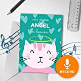Loss Of A Pet Card With Recordable Sound | Cat In Heaven, Sympathy For Cat, Singing Pet Sympathy Card 00124 (10sec Recordable)
