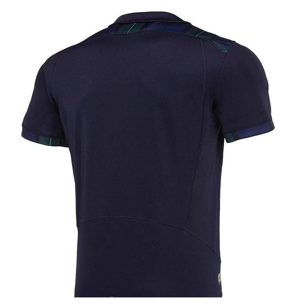 Wangxyan Camiseta de Rugby Copa del Mundo Masculina Escocia Camisetas de Rugby Fan/áticos Fan/áticos Uniforme Local Visitante Camisa Transpirable Ocio Ropa Deportiva