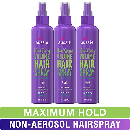 Aussie, Hairspray, with Bamboo & Plum, Headstrong Volume, 8.5 fl oz, Triple Pack
