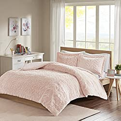Laila Chevron Ultra Plush Comforter Mini Set Blush King/Cal King