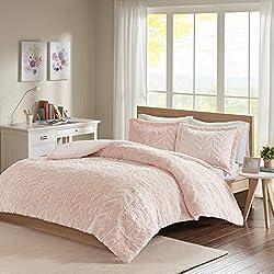Laila Chevron Ultra Plush Comforter Mini Set Blush King/Cal King