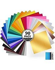 Vinylfolie Plotter Zelfklevend, Plotterfilm met Permanente Zelfklevende Film, Verschillende Kleurenfilms voor Cricut, Uitgerust met Schraper, voor Decoratie, Scrapbooking, Borden