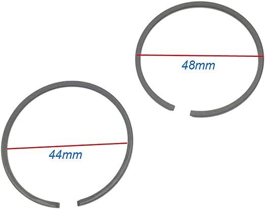 B Baosity 4 Piezas De Anillos De Pist/ón De 47 Mm Para Bicicleta Motorizada De Motor De 2 Tiempos De 80cc