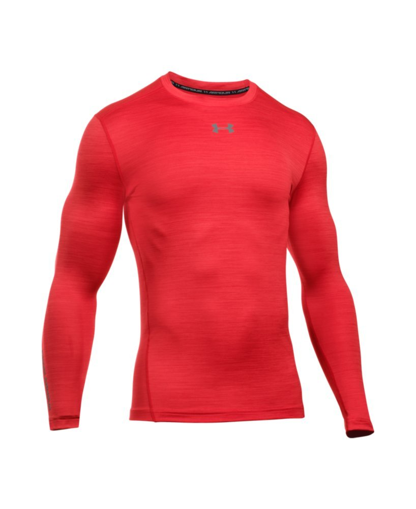 Under Armour Men's ColdGear Armour Twist Compression Crew, Red/Graphite, Small by Under Armour (Image #4)
