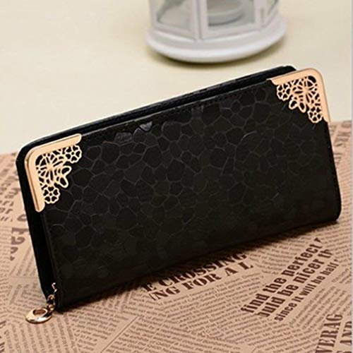 Stone Pattern Gold And Silver Long Wallet Of The Zipper Ladies Clutch Bag NC (Color - -