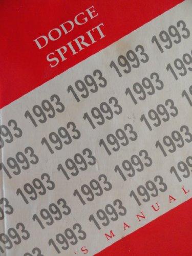 1993 Dodge Spirit Owners Manual