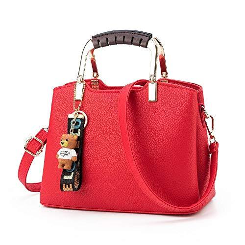 26 à Red 12 ANLEI à bandoulière Couleurs Messenger Bag Mode 2108 20cm 5 La Sac DW PU 1 Sac Main Femmes pCRCwgqT5x