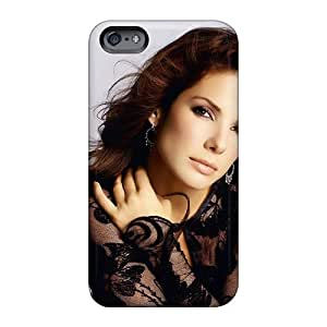 Shock-Absorbing Cell-phone Hard covers case for Merry Christmas and Happy New year cases For Apple Iphone 6 Plus With Support Your Personal Customized Beautiful Celebrity Sandra Bullock Image AshleySimms