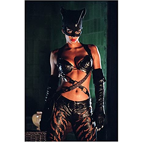 Catwoman Halle Berry Standing Suited Up Ready To Fight 8 X 10 Inch