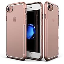 Patchworks Sentinel Case Rose Gold for iPhone 7 6s 6 - Military Grade Protection, Micro Texture Clear Transparent Dual Layer Cover Protective Bumper Case