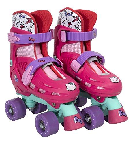 PlayWheels Hello Kitty Kids Classic Quad Roller Skates, Junior Size 10-13