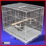 Posh Pets Bird Carrier Carry Cage Transporter In White