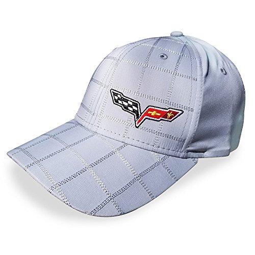 Corvette Prepp Perfect Embroidered C6 Logo Cap/Hat - Gray : 2005-2013 C6