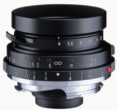 Voigtlander Color-Skopar 21mm f/4.0 Pancake Lens with Leica M Mount - - 21mm Viewfinder