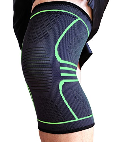 Renew Athletics Knee Compression Sleeve with EBook, Single Wrap - Medium