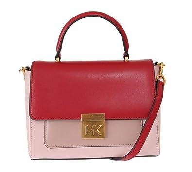 3d743a06856dce Michael Kors Red Pink Mindy Satchel Crossbody Bag: Handbags: Amazon.com