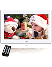 NeKan 10 Zoll Digitaler Bilderrahmen, 1024 × 600 Hohe Auflösung / 1080P HD elektronischer bilderrahmen mit Fernbedienung
