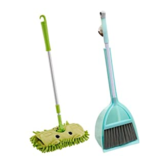 Black Temptation Set di 3 giocattoli educativi per bambini Play House Toys Labor Tools - Set di strumenti per la pulizia