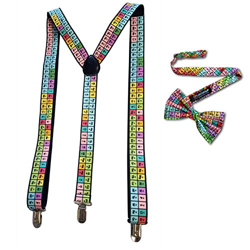 Scientist Rainbow Periodic Table Bow tie and