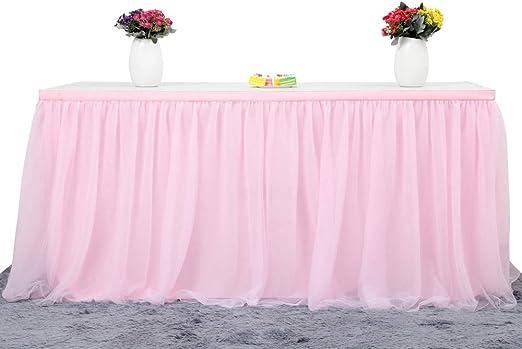 Amazon.com: Falda de mesa, tutú de tres mallas para ...