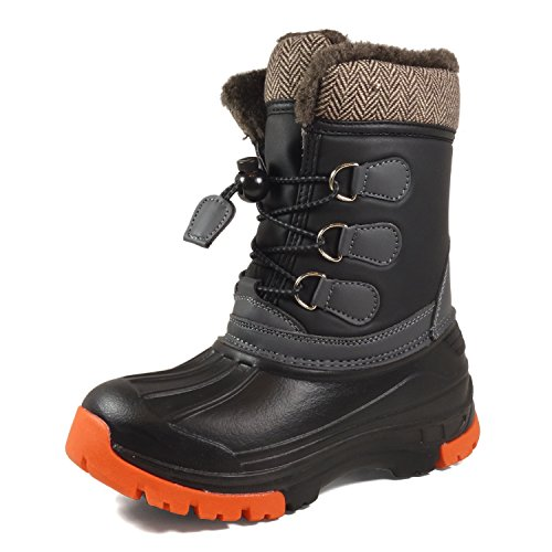 Image of the Nova Mountain Little Kid's Winter Snow Boots,NF NFWB01 Black 9