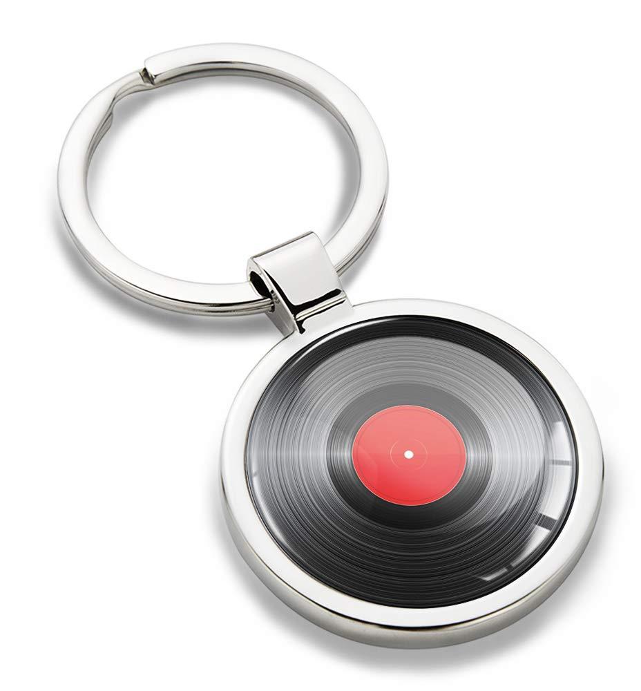 Llavero deportivo con tocadiscos, placa música para DJ, llave de ...